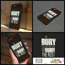 WALKING DEAD ZOMBIE DARYL DIXON BL For iPhone Samsung HTC Hard/Rubber Case Cover