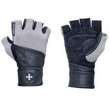 Harbinger 130 Classic Wristwrap Weight Lifting Gloves - Gray/Black