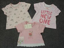 """NEXT 3 Really Pretty Little Girls Bunny and """"Little NEW One"""" T-Shirts NWT"""