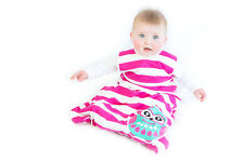Pink & White Owl Baby Sleeping Bag PREMIUM 4 SEASONS size 6-18 months 0 / 1