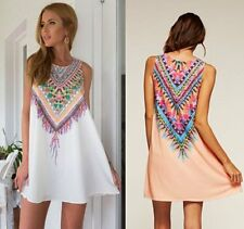 Women's Summer Holiday Casual Boho Beach Dress Cocktail Evening Party Dresses