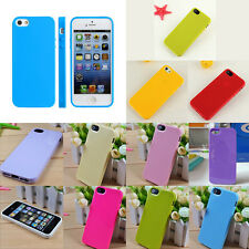 New Protective Silicone Soft  Rubber TPU Skin Case Cover For iPhone 5 SE 5th 5S