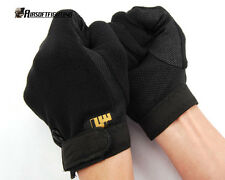Airsoft SWAT Tactical Gear Full Finger Assault Non-Slip Stretchy Gloves BK S-XL