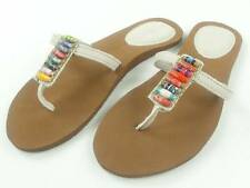 Reef Flip-flops Sandals Ugandal 2-white brown Beads Leather NEW