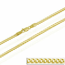 9ct solid gold Curb Chain 18 20 22 24 inch Necklace Yellow gold Hallmarked 2.8mm