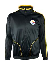 Pittsburgh Steelers Men M, L, XL, 2XL Full-Zip Embroidered Track Jacket NFL A14T