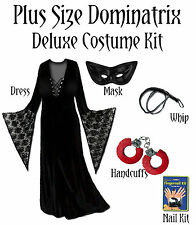 Sexy PLUS SIZE Dominatrix Halloween Costume NEW! Short or X-Tall XL to 8x