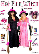 Sexy Black & Pink PLUS SIZE Witch Halloween Costume Hot Pink! 1x -9x