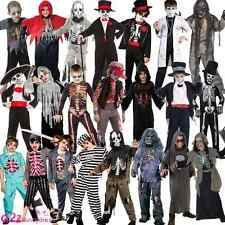 Zombie Undead Skeleton Day of the Dead Halloween Boys Kids Fancy Dress Costume