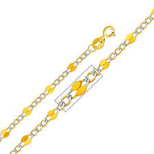 14k Yellow Gold 3.2-mm Stamped Figaro Chain Necklace