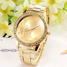 "New Luxury Women Ladies ""CHHC"" Stainless Steel Crystal Dial Quartz Watch"