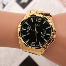 Fashion Women Men Stainless Steel Band Sport Analog Quartz Movement Wrist Watch