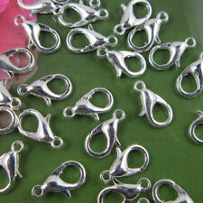 50Pcs Stylish Silver Plated Lobster Clasps Jewelry Making 10/12/14/16mm Sale