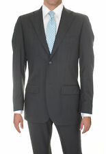 Lubiam Studio Slim Fit Gray Textured Two Button Wool Suit