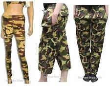 Women's Camouflage Army Leggings, Trousers & 3/4 Trousers Cotton & Microfibre
