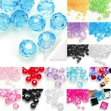 30g Approx 400pcs Faceted Bicone Acrylic/Plastic Spacer Beads 3mm 12 colours