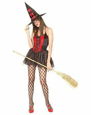 Ladies Saucy Witch Halloween Fancy Dress Costume One Size Fits Most