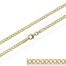 """14ct Curb Chain Solid Yellow Gold 585 20 22 24"""" Necklace Wide 3.5 mm Hallmarked"""