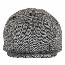 Harris Tweed Gatsby/Newsboy  - Grey Herringbone  Cap - Made in the Uk