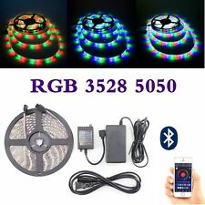 SMD 3528 / 5050 RGB 5M Flexible LED Strip Bluetooth Key IR  Controller Power