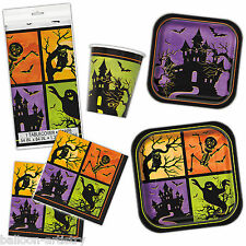 Haunted House Happy Halloween Party Plates Napkins Cups Tableware Listing