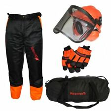 Chainsaw Safety Kit Trousers Type A, Gloves And Helmet Ideal For Makita Users