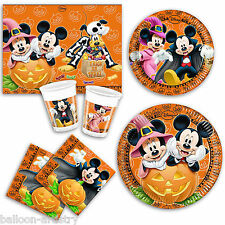 Disney Halloween Mickey Minnie Mouse Party Plates Napkins Cups Tableware Listing