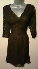 BNWT NEXT Black or Pink Lace Layered Scalloped Dress size 8 – 16 Reg or Tall £45