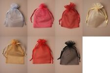 PACK OF 12 ORGANZA BAGS / POUCHES / WEDDING FAVOURS: CHEAPEST ON EBAY, WHOLESALE