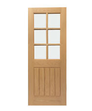 Mexicano Pre-finished Oak Door with Bevelled Glass