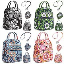 VERA BRADLEY LUNCH BUNCH LUNCH BAG w/MATCHING LANYARD 4 NEW PATTERNS TO CHOOSE!