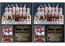 Chicago Bulls NBA Record 72 Win Season Photo Plaque Michael Jordan Pippen