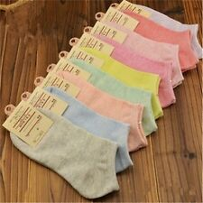 6 Pairs 12 Pairs Lot Women Cotton Solid Candy Color Girls Ankle  Socks Size 7-10