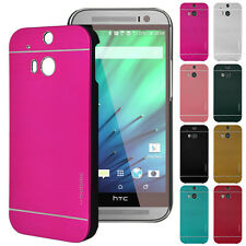 Luxury Motomo Aluminum Metal Brushed + Hard PC Case Cover For HTC ONE M8 M9 620