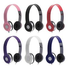 3.5MM Foldable Stereo DJ Style Headphones Earphone Headset Over Ear MP3/4 iPhone