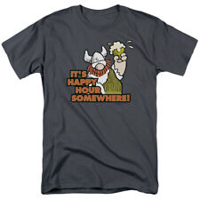 Hagar the Horrible Happy Hour Officially Licensed Adult Graphic Tee Shirt