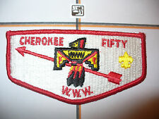 OA Cherokee Lodge 50,S-2b,1970s,One Per Year Flap,Birmingham,135,310, Alabama,AL