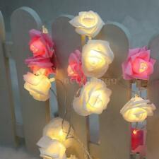 2.2M Rose Flower 20LED Christmas Wedding Xmas Party Decor Fairy String Light