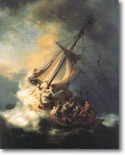 HUGE Rembrandt Storm Sea Galilee Stretched Canvas Giclee Repro Print ALL SIZES