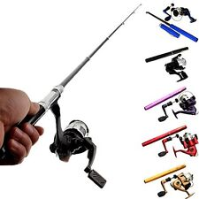 Mini Telescopic Portable Penlike Fishing Pole Rod Aluminum-Alloy-Reel & Line set