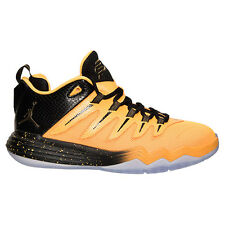 New Youth Air Jordan CP3.XI GS Shoes (810871-012) Black/Laser Orange-Blue Lagoon