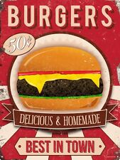 Burgers Delicious & Homemade Tin Sign 30.5x40.7cm