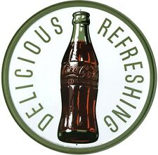 New Coca Cola Refreshing Coke Bottle Metal Tin Sign