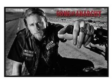 New Gloss Black Framed Sons Of Anarchy Jackson Poster