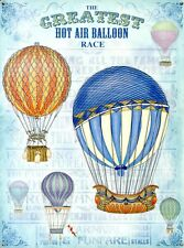 New The Greatest Hot Air Balloon Race Up Up and Away Tin Sign
