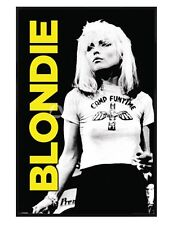 New Gloss Black Framed Blondie Debbie Harry Performing Live Poster