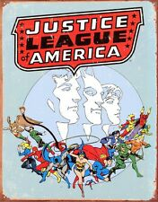 New DC Comics Justice League of America Metal Tin Sign