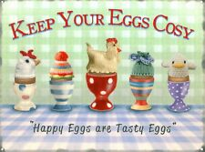 New Happy Eggs Are Tasty Eggs Keep Your Eggs Cosy Metal Tin Sign