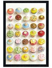 Howard Shooter Black Wooden Framed Cupcake Choices Maxi Poster 61x91.5cm