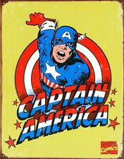 New Marvel Comics Retro Captain America Metal Tin Sign
